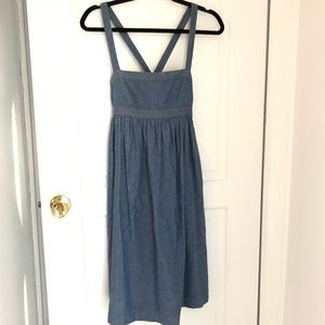 Jcrew chambray apron dress